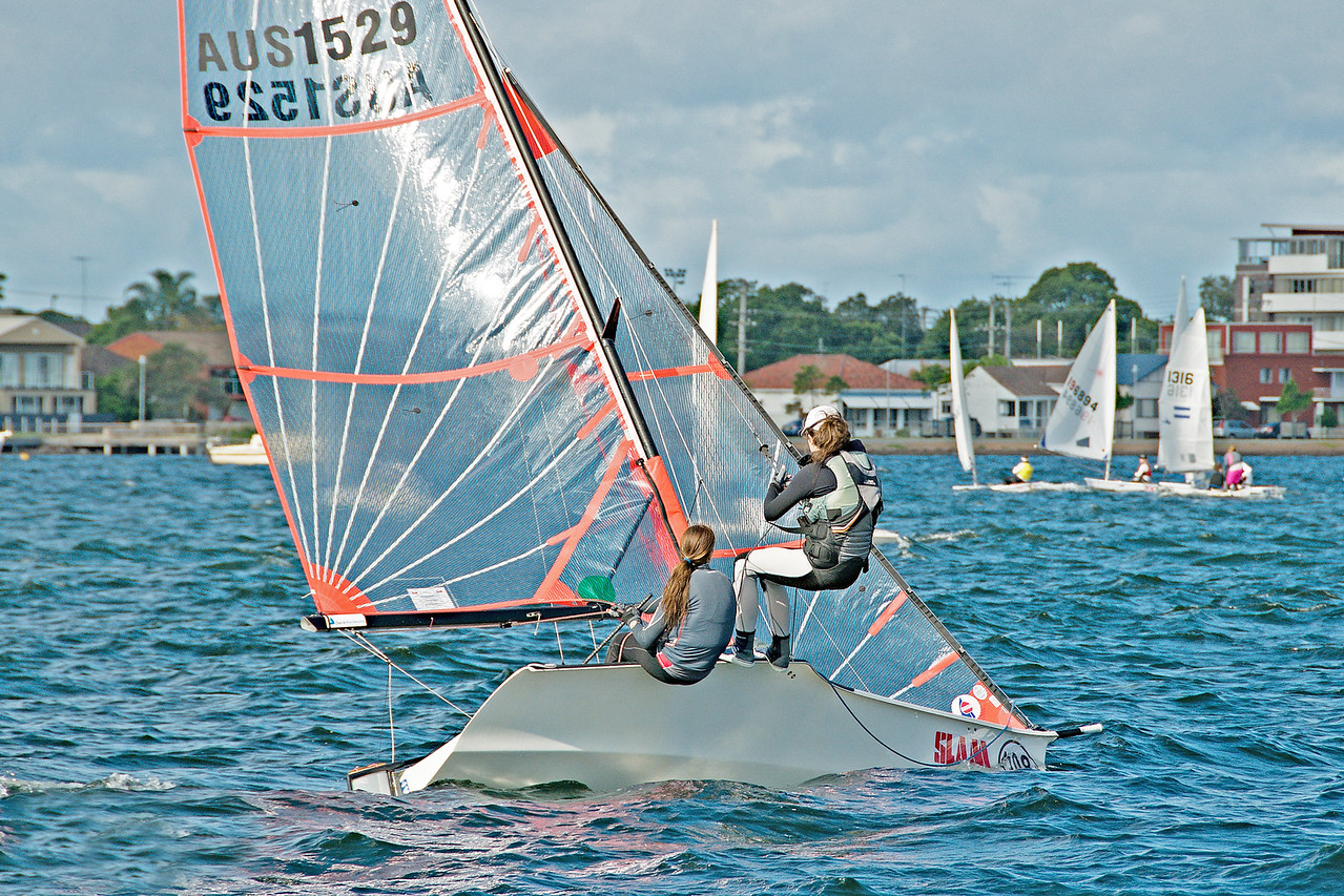 High School Children Sailing