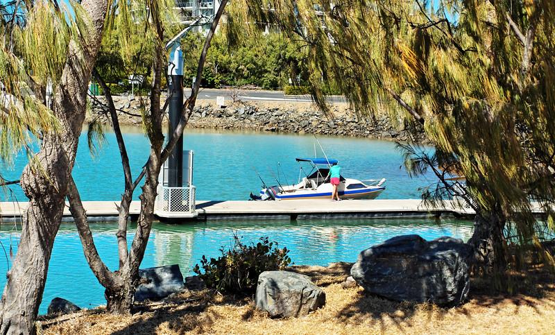 Marina harbour pleasurecraft launching ramp.