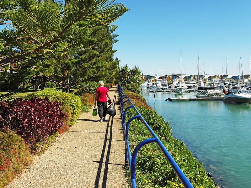 Marina Walkway nautical scene. Keppel Bay
