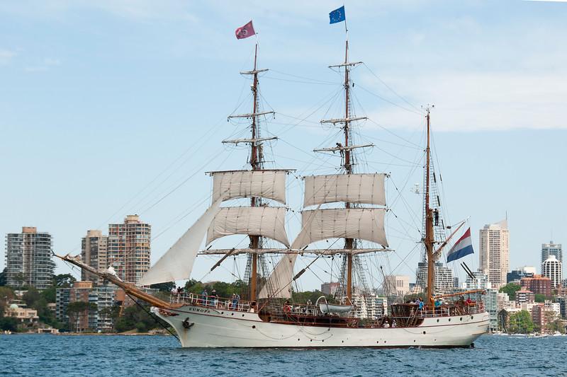 Tall Ship Barque Europa Sydney.