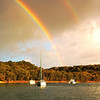 Double Rainbow - Yellow Patch anchorage, Art photo digital download and wallpaper screensaver. DIY Print