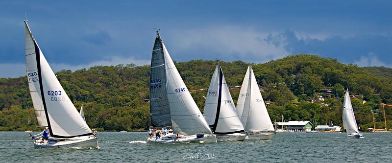 Yachts Racing.