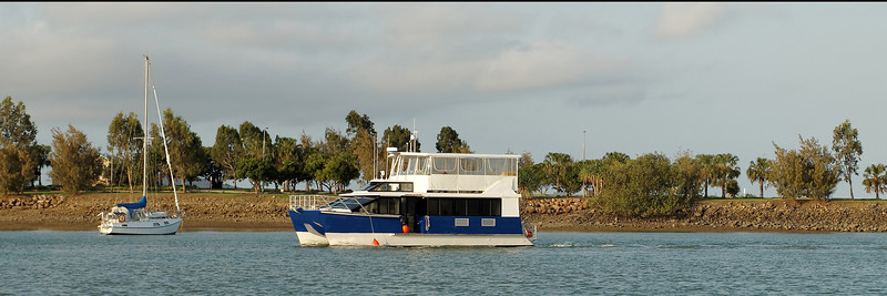 Commercial Water Craft passenger ferry for harbour construction workers at Gladstone Harbour, Queensland, Australia