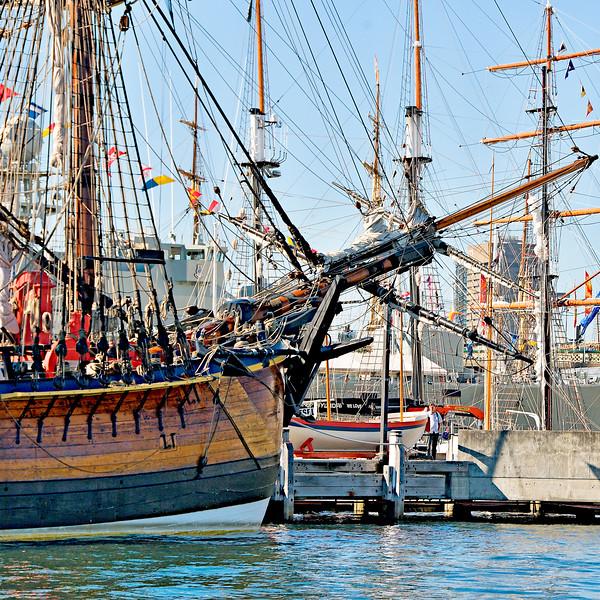 Tall Ships. Original exclusive photo art.