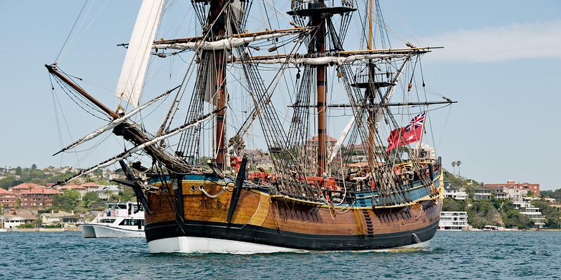 HM Bark Endeavour Replica tall ship