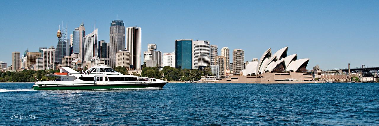 """ RIVER CAT "" Ferry on Sydney Harbour. Art photo digital download and wallpaper screensaver. DIY Print."
