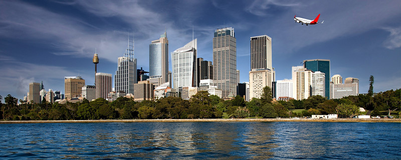 City skyline panorama, Sydney.