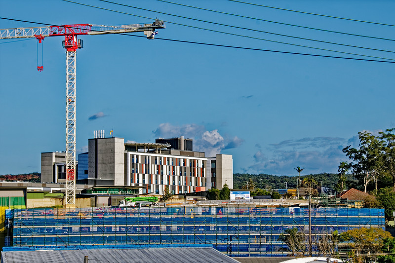 Gosford Hospital building progress  September 2018.   (h25ed)