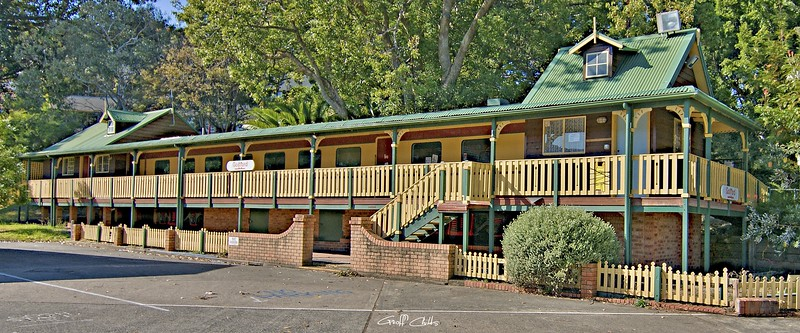 The old Gosford Public School. Original exclusive photo art.