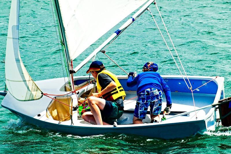 Children Sailing Racing