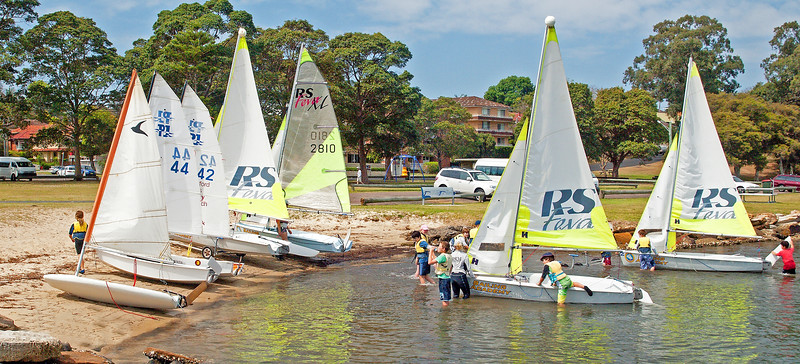 Children Sailing Racing