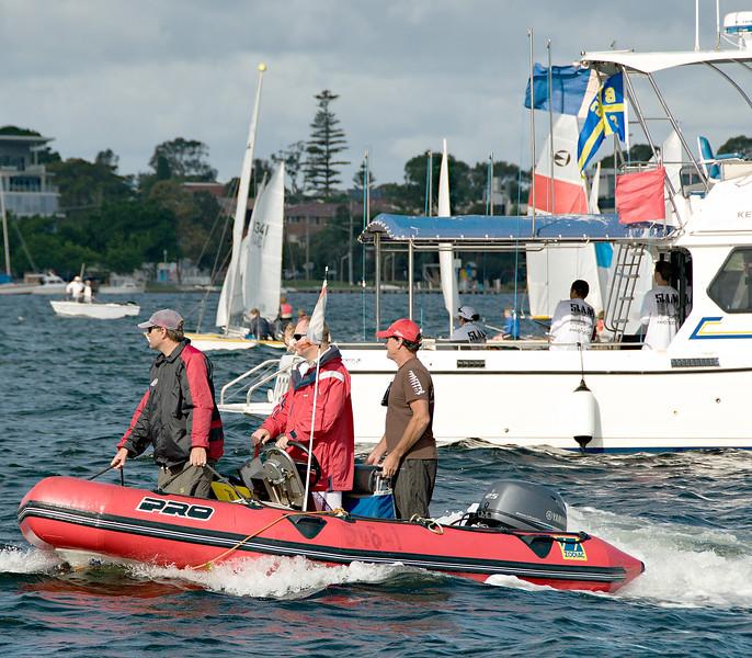 Children sailing starting line. April 16, 2013: Editorial