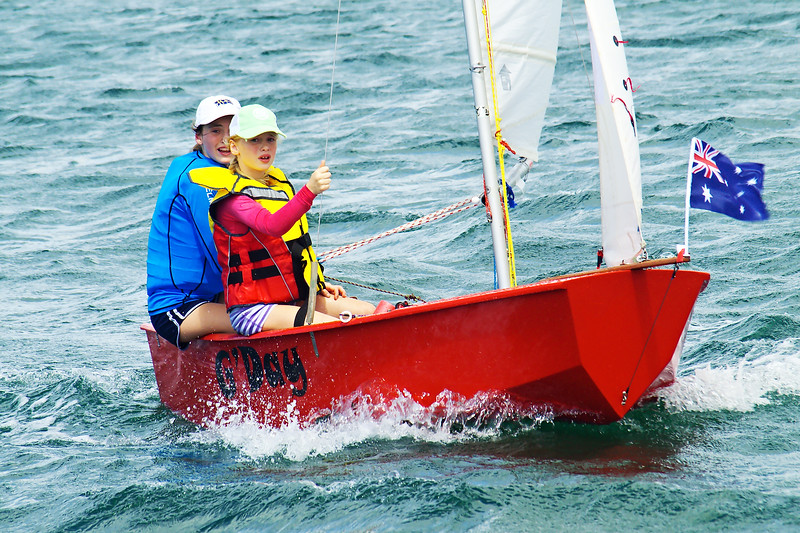 January 2013: Children sailing. Editorial.