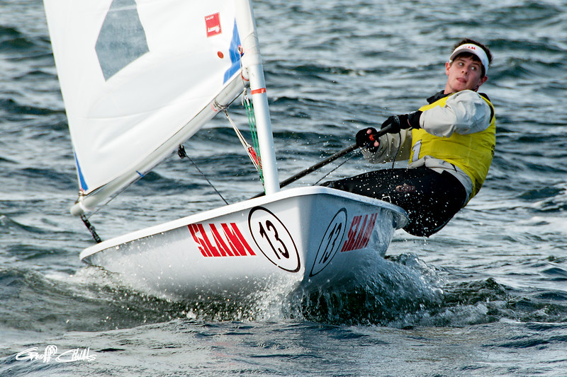 High school student sailing racing. April 16, 2013: Editorial