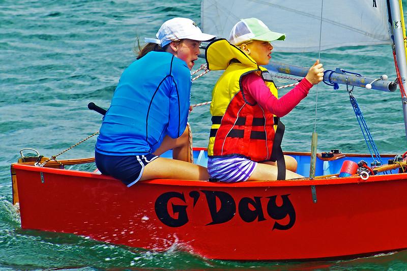 January, 2013: Children sailing. Editorial.