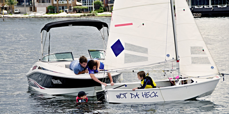 Children Sailing Belmont 16ft Sailing club -