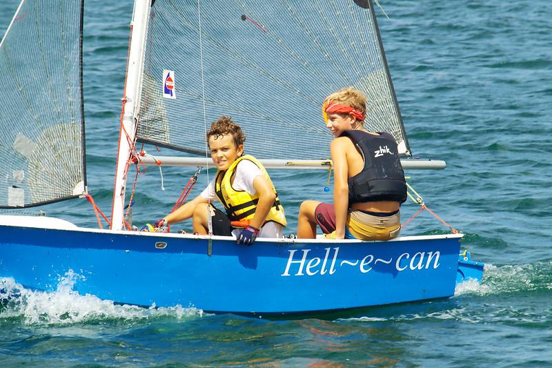 January 1, 2013: Children sailing. Editorial.