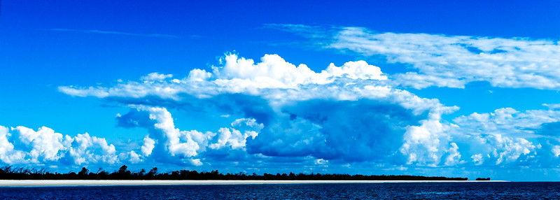 Magnificent white Cumulonimbus cloud in blue sky. Australia.