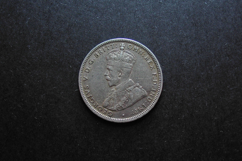 Antique Australian Silver Shilling.
