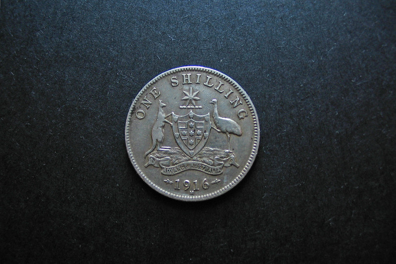 Antique Australian Silver One Shilling.