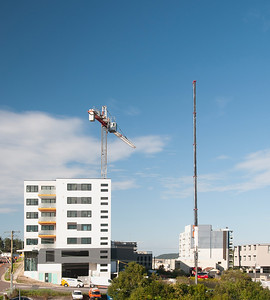 Construction crane removal. Update ed300 . Gosford. April 9, 2019.