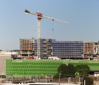 Building progress on new multistory hospital building construction. February 2020. Gosford Australia