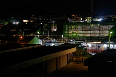 Gosford Hospital construction under nightime lighting December 31, 2018.  (h81ed)