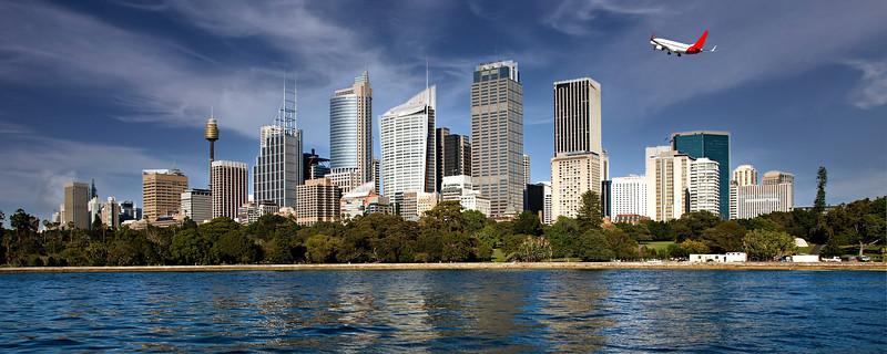 City skyline panorama, Sydney.