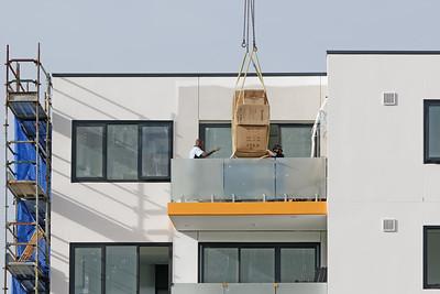 Working construction crane. Update 202 . Gosford. March, 2019.