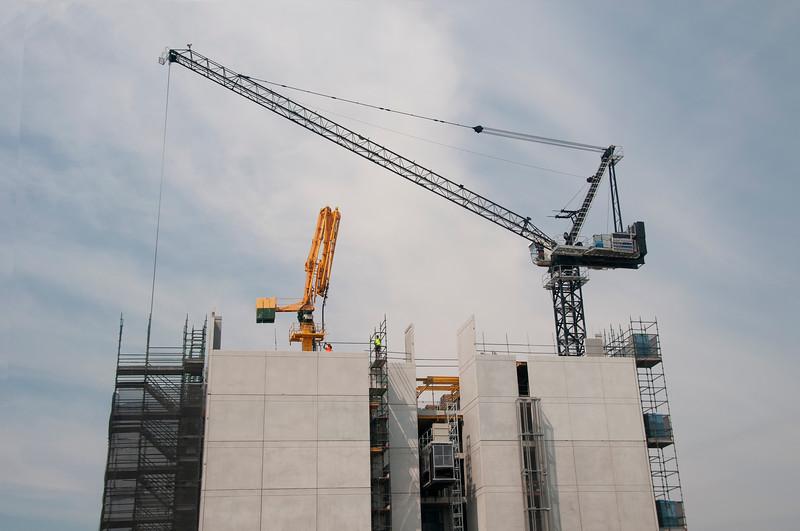 Building progress on the new Multistory Unit building under construction at Mann St. Gosford. November 2, 2019