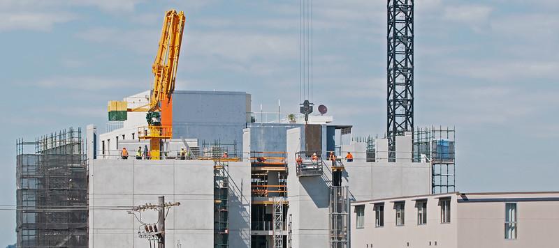 Multistory building under construction. Mann St, Gosford. October 15, 2019.