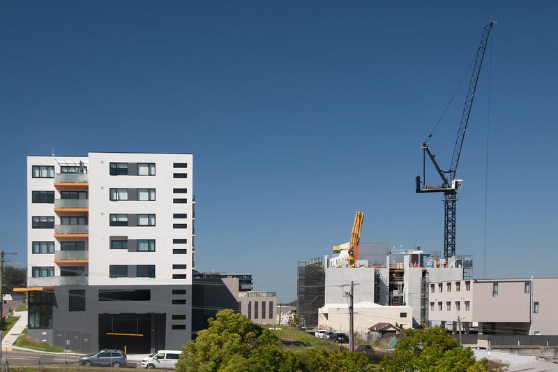 Multistory building under construction.  Australia