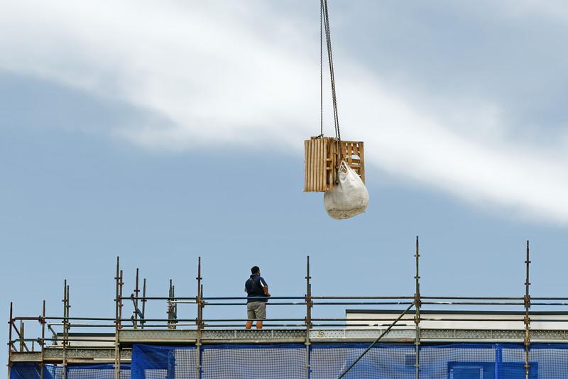 Working construction crane in operation. Update ne157. February 2019.