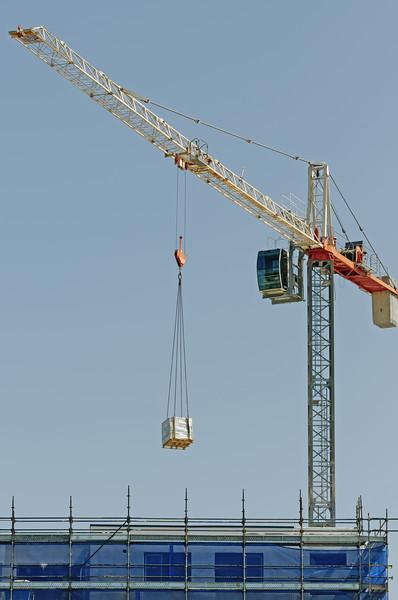 Working construction crane. Update ne165.