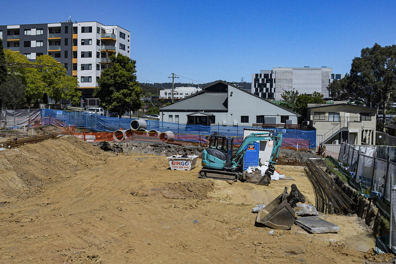 Construction on new Units in Gosford at 56-58 Beane St. November 15, 2020. Part of a Series