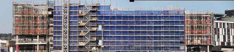 Building progress on new multistory hospital building construction. February 2020. Gosford Australia