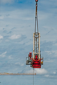 Erecting a Tower Crane. #21. of a 33+ Shot Photo series.