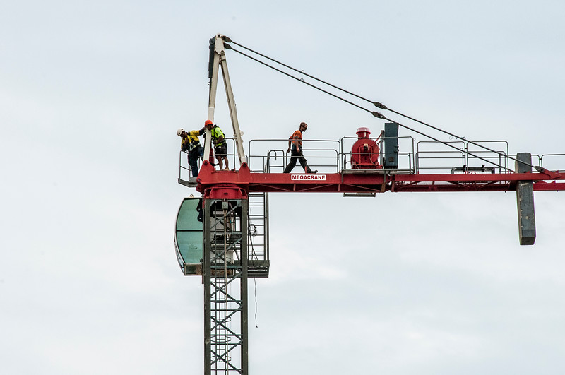 Erecting a Tower Crane. #26. of a 33+ Shot Photo series.