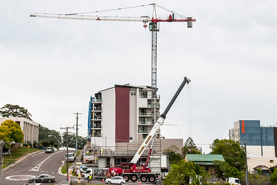Erecting a Tower Crane. #40. of a 33+ Shot Photo series.