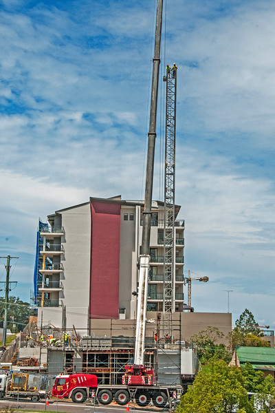 Erecting a Tower Crane. #20. of a 33+ Shot Photo series.