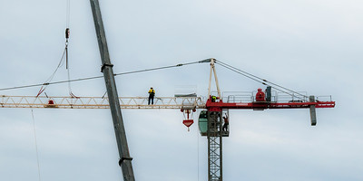 Erecting a Tower Crane. #36. of a 33+ Shot Photo series.