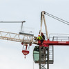 Erecting a Tower Crane. #31. of a 33+ Shot Photo series.