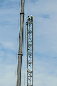 Erecting a Tower Crane. #19. of a 33+ Shot Photo series.