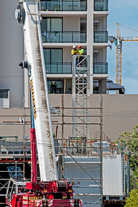 Erecting a Tower Crane. #9. of a 33+ Shot Photo series.