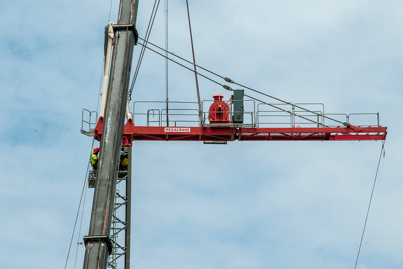 Erecting a Tower Crane. #24. of a 33+ Shot Photo series.