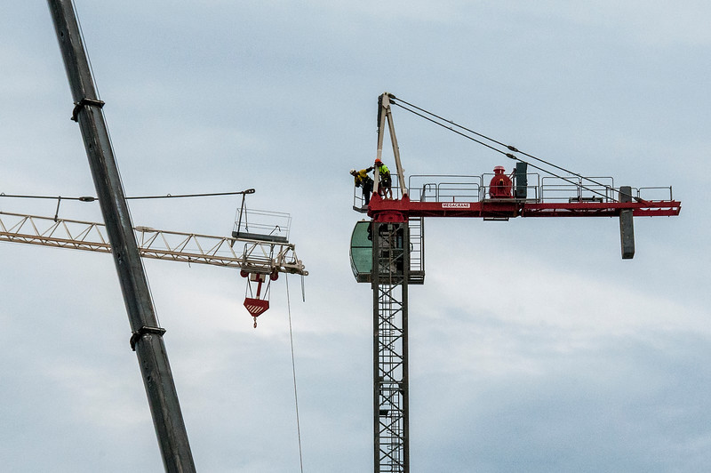 Erecting a Tower Crane. #28. of a 33+ Shot Photo series.