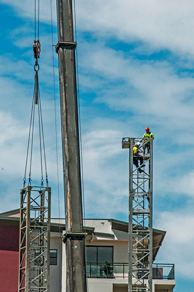 Erecting a Tower Crane. #15. of a 33+ Shot Photo series.