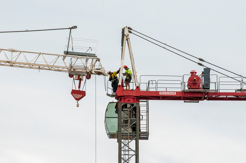Erecting a Tower Crane. #29. of a 33+ Shot Photo series.