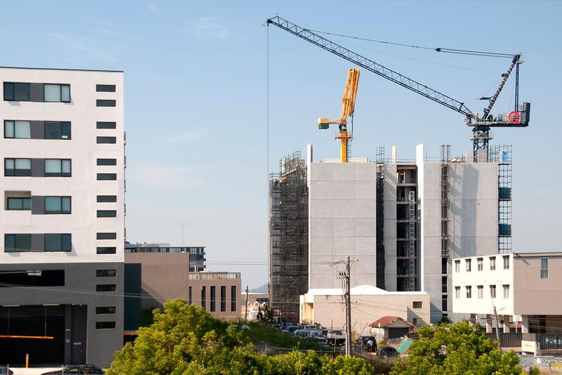 Building progress on the new Multistory Unit building under construction at 277 Mann St. Gosford. November 28, 2019.