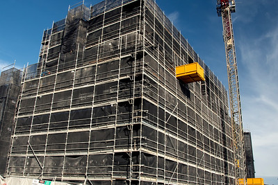 May 2, 2021. Construction progress on the top floors new building site at 56-58 Beane St. Gosford, Australia. Part of a series.